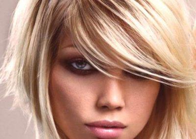 Un look adatto per un viso a forma triangolare
