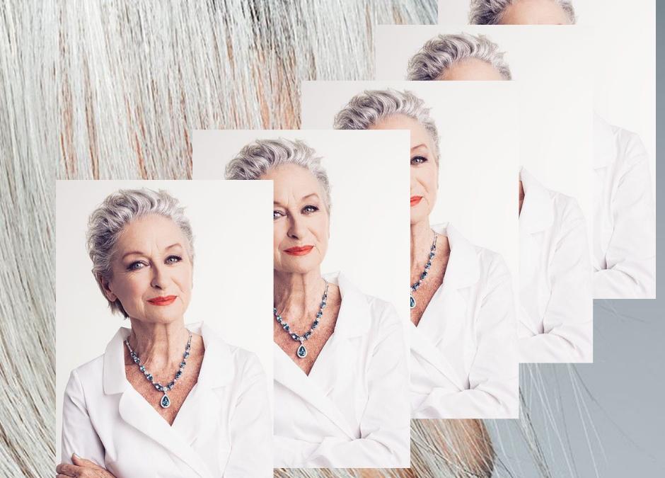 Tendenze capelli grigio argento.